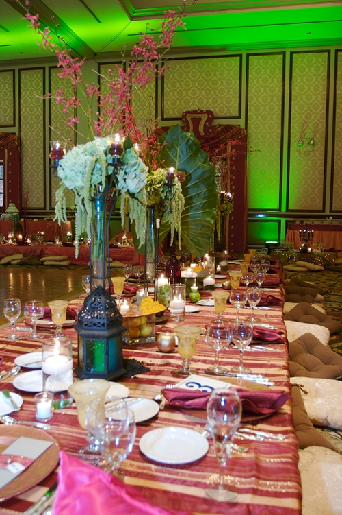 Wedding Reception Tablescape Lanterns