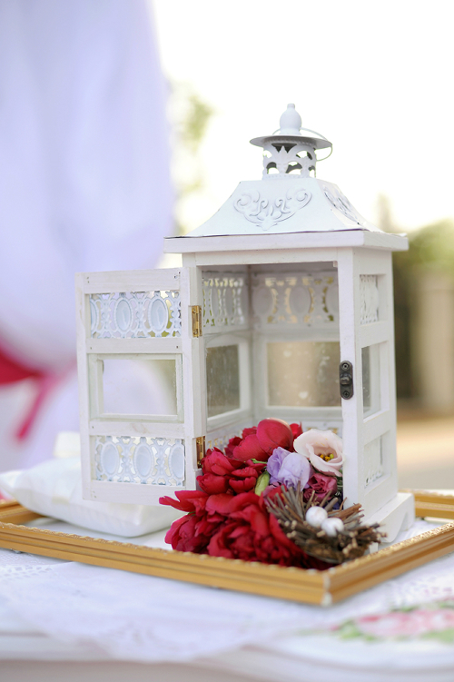 White Decorative Candle Lantern