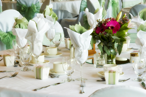 Wedding favors displayed on tablescape