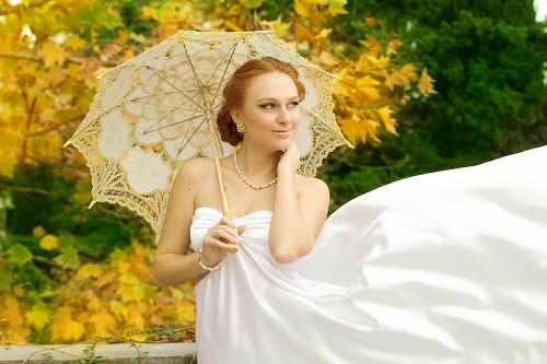 Bride with White Parasol