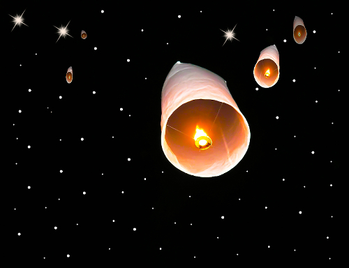 Night Sky Lanterns