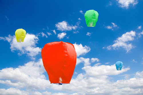 Summer Colorful Sky Lantern