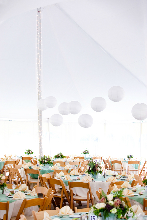 Wedding Reception with Paper Lanterns